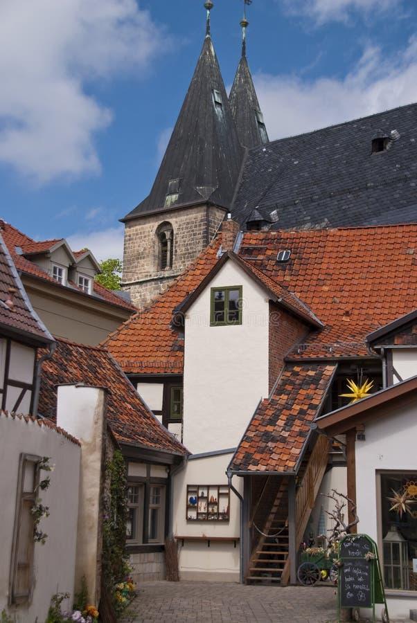 Quedlinburg Tyskland royaltyfria foton
