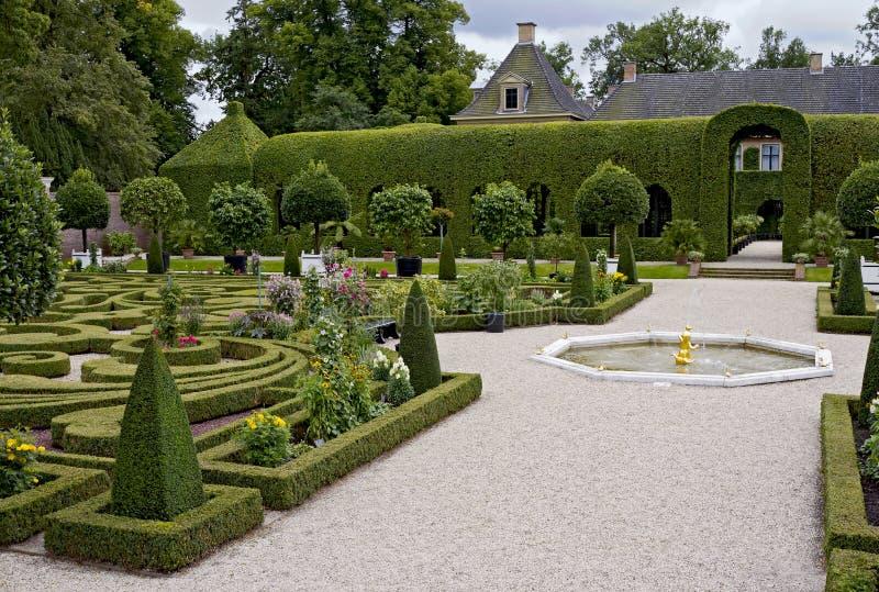 Queen's garden in Paleis Het Loo stock photos