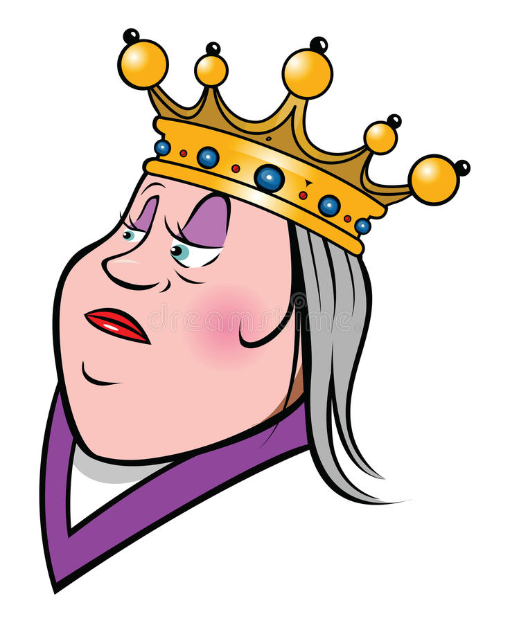 Queen royalty free illustration
