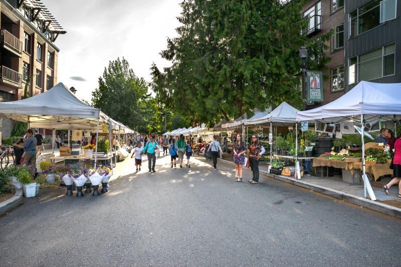 Queen Anne Farmers Market Seattle, Washington stock images