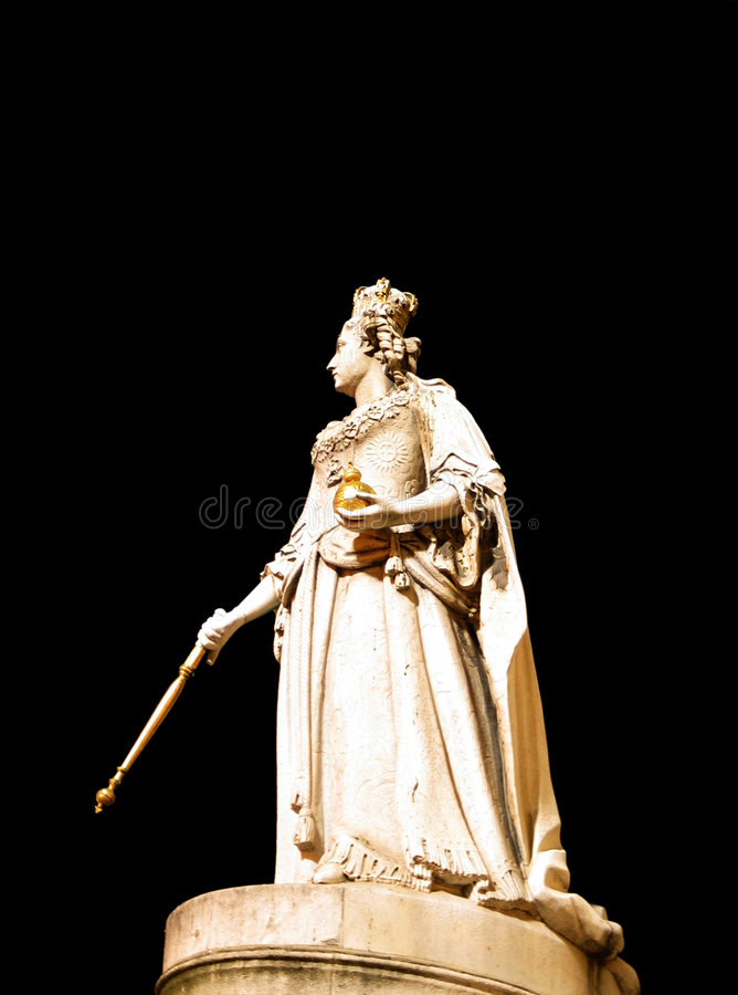 Queen Anne's Statue at St. Paul's Cathedral stock image