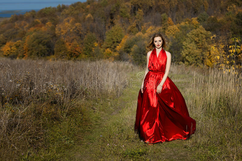 Queen of autumn. royalty free stock images