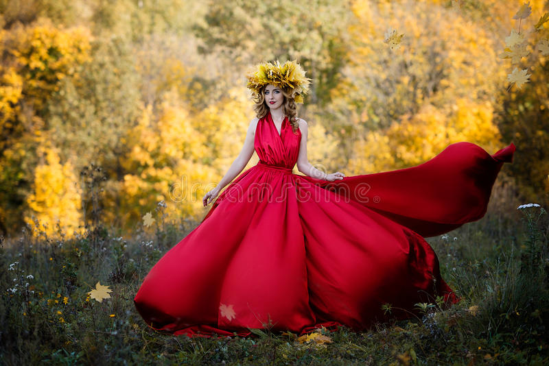 Queen of autumn. royalty free stock image