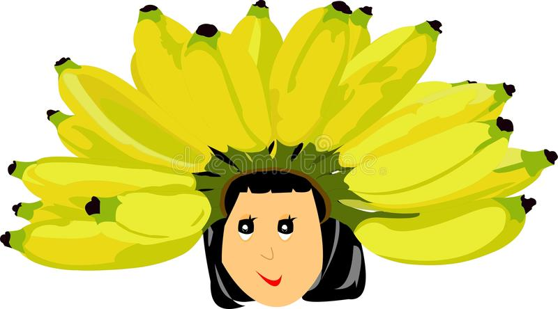 Little Queen of Banana Kingdom royalty free stock images