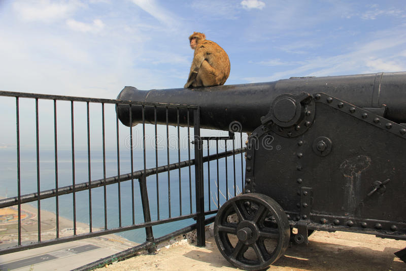 Queen Charlotte's Battery, Gibraltar royalty free stock image