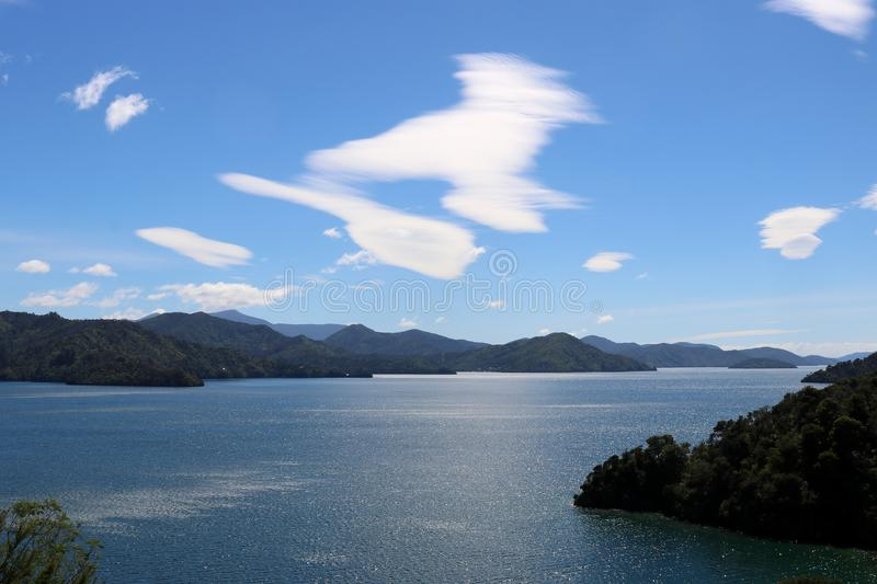 Queen Charlotte Sound, South Island, New Zealand royalty free stock image
