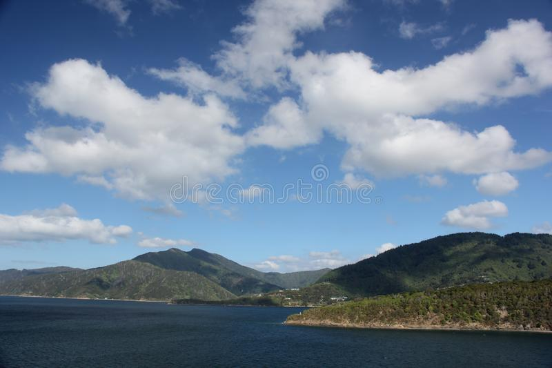 Queen Charlotte Sound royalty free stock photo