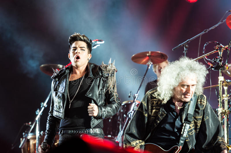 Queen concert royalty free stock images