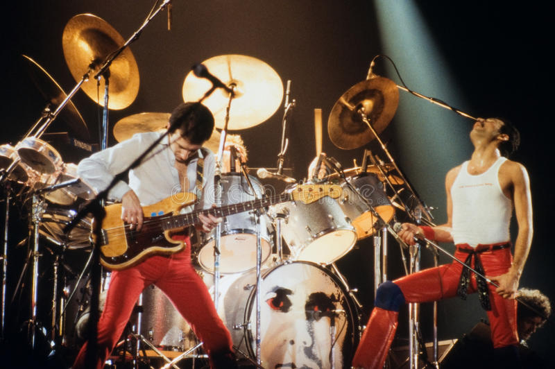 Queen in concert stock photography