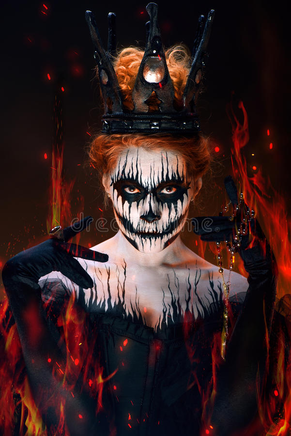 Queen of death royalty free stock image