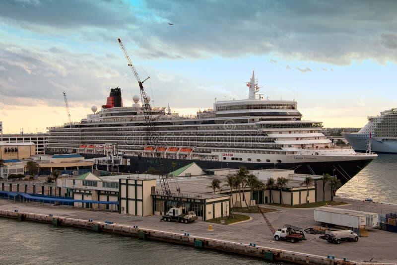 Queen Elizabeth Cruise Ship Editorial Photography