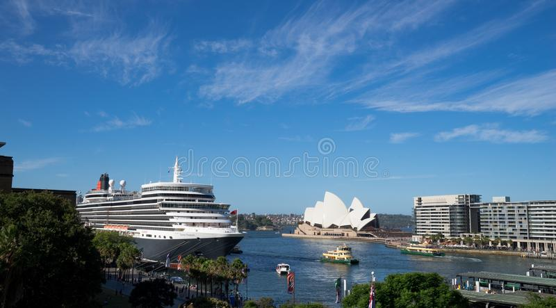 Queen Elizabeth cruise ship, the world`s most famous cruising sh royalty free stock photos