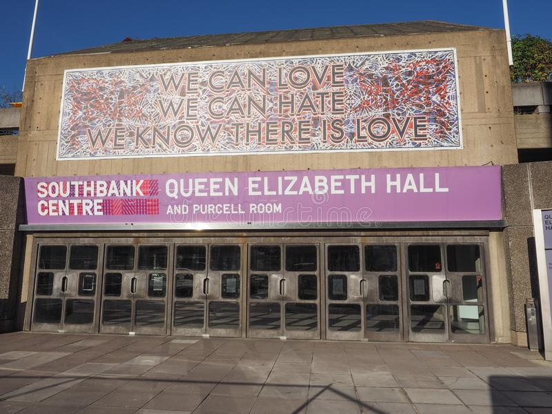 Queen Elizabeth Hall in London stock photography