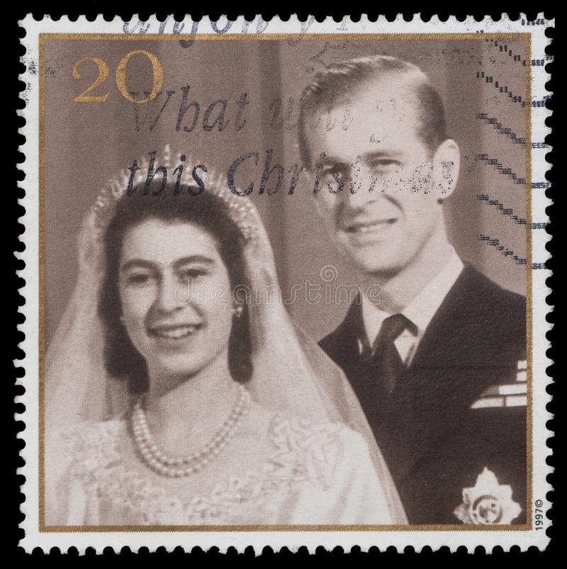 Queen Elizabeth II and Prince Philip royalty free stock image
