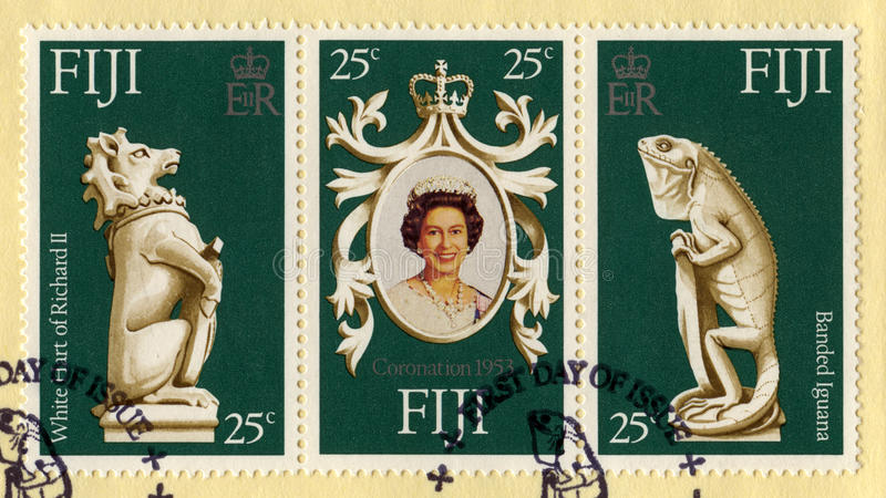 Queen Elizabeth II Silver Jubilee Postage Stamps royalty free stock photography