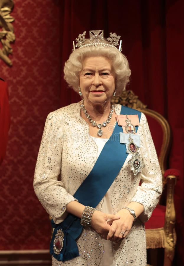Queen Elizabeth II. Wax statue at Madame Tussauds in London