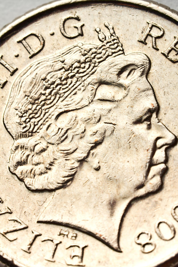 Download Queen Elizabeth Portrait On The Coin Royalty Free Stock Photos - Image: 23054868