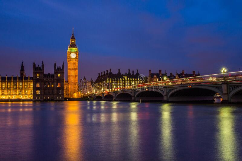 Queen Elizabeth Tower With Lights Turned On At Night Free Public Domain Cc0 Image