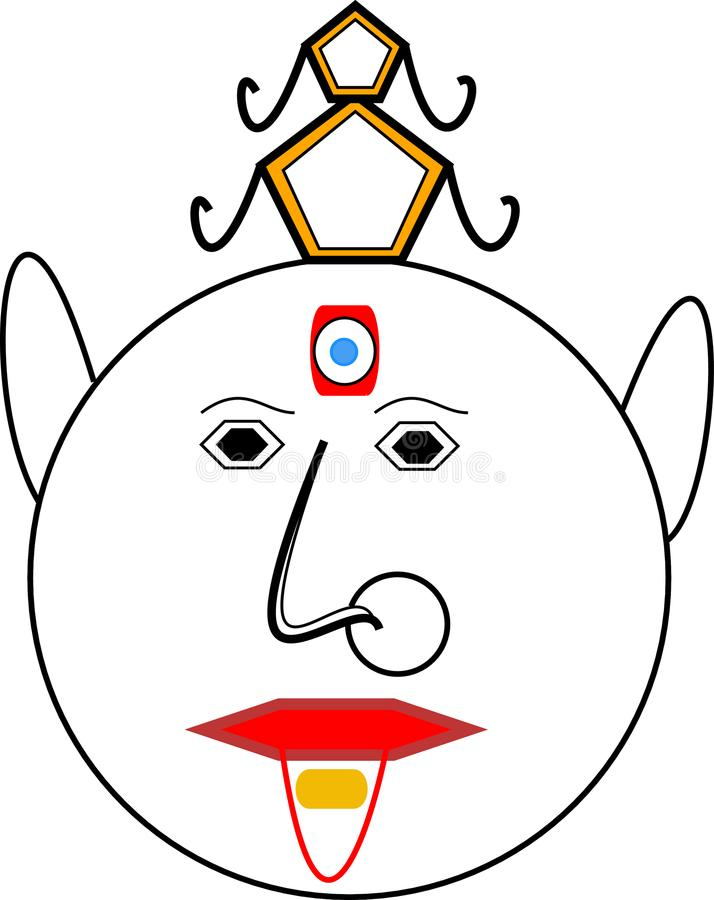 queen emoji with pressure tablet and hat stock images