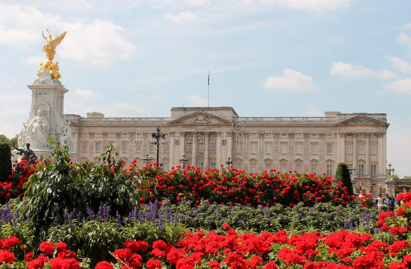 Buckingham Palace London Queen Elizabeth ii stock, photo, photograph, image, picture. Buckingham Palace The home of the Queen of England is Buckingham Palace stock image
