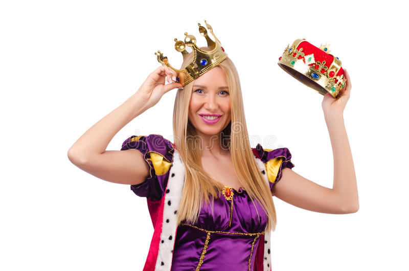 Queen In Funny Concept Stock Photos