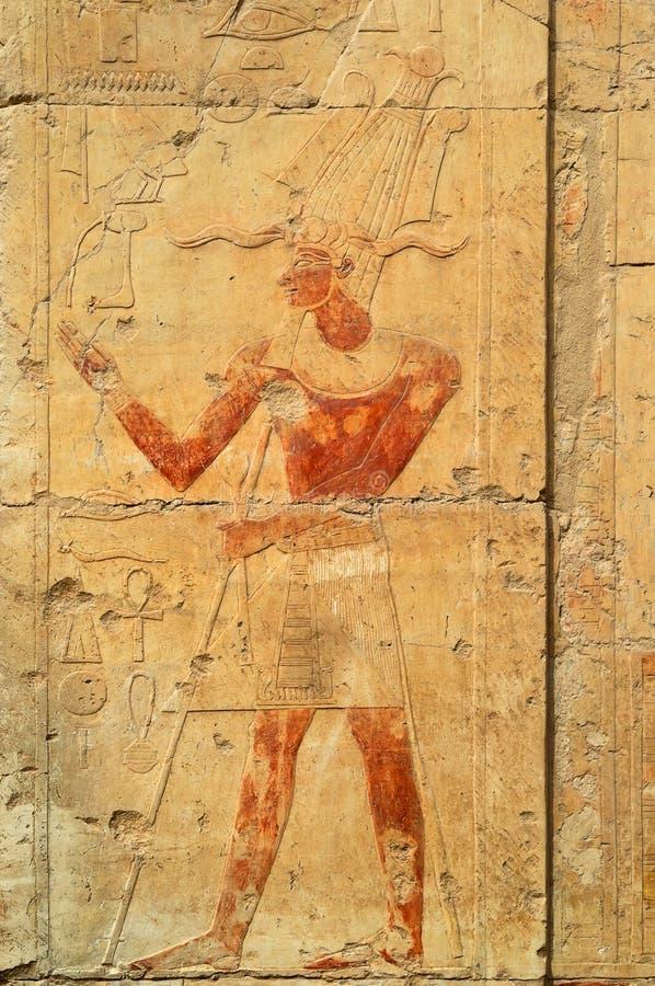 Queen Hatshepsut bas-relief stock image