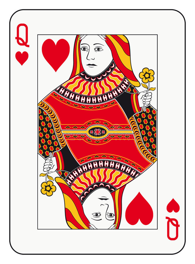Queen of hearts stock illustration