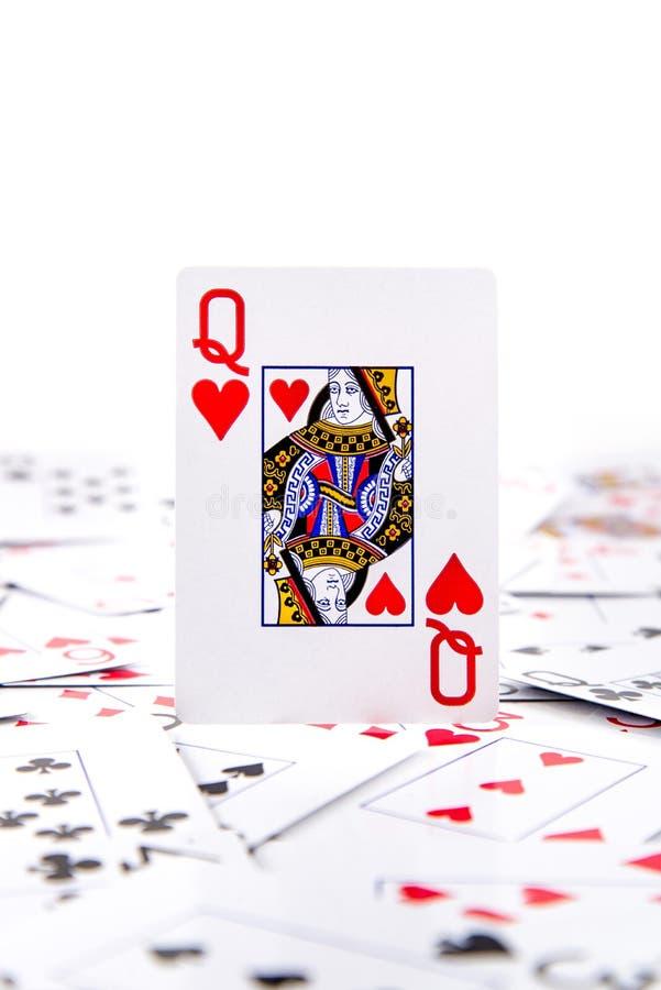 A queen of hearts royalty free stock photos