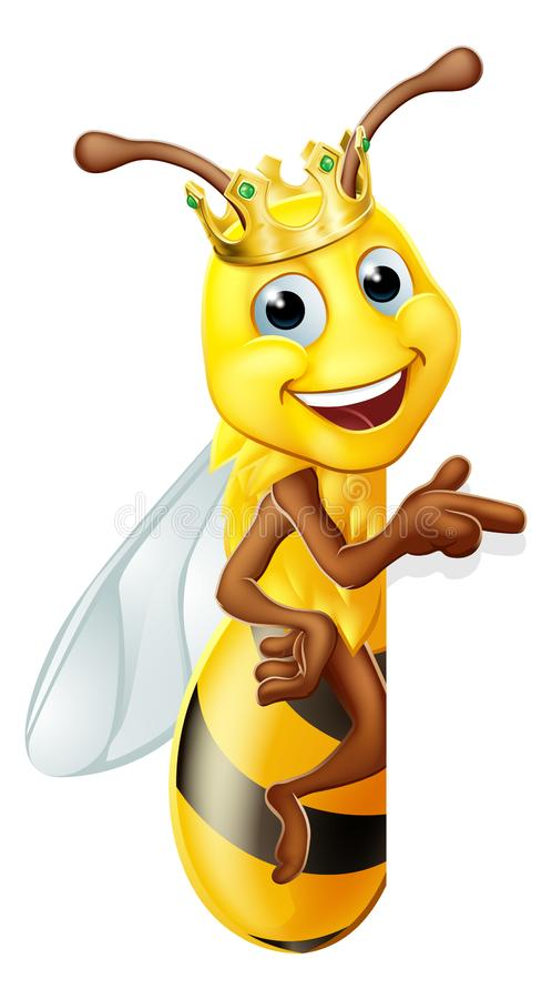 Free Queen Honey Bumble Bee Bumblebee In Crown Cartoon Royalty Free Stock Image - 149138756