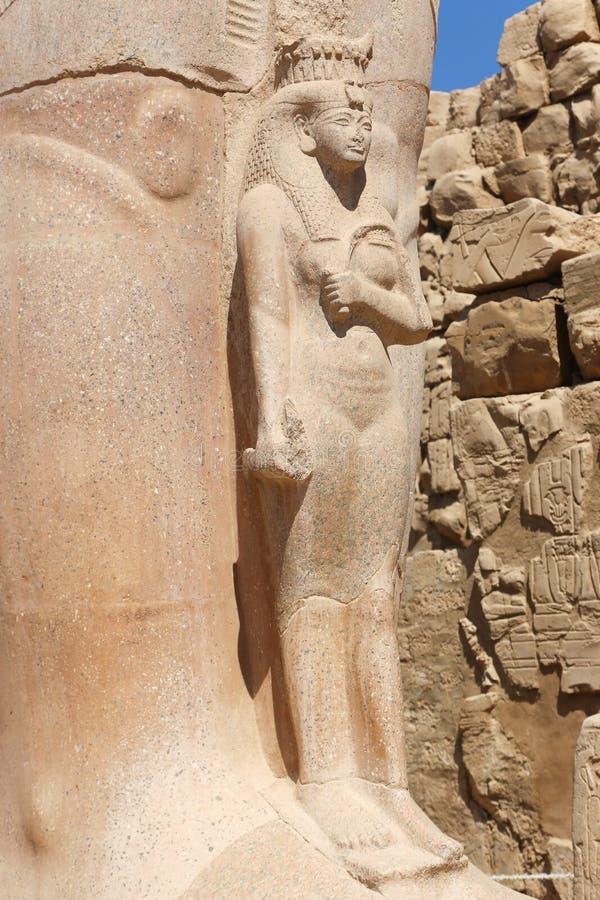 Queen at Karnak Temple - Egypt. Karnak Temple at Luxor - Egypt Karnak temple - Most huge temple at Egypt stock image