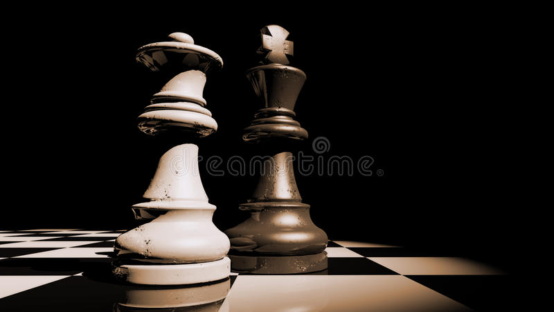 Queen and King royalty free stock photography