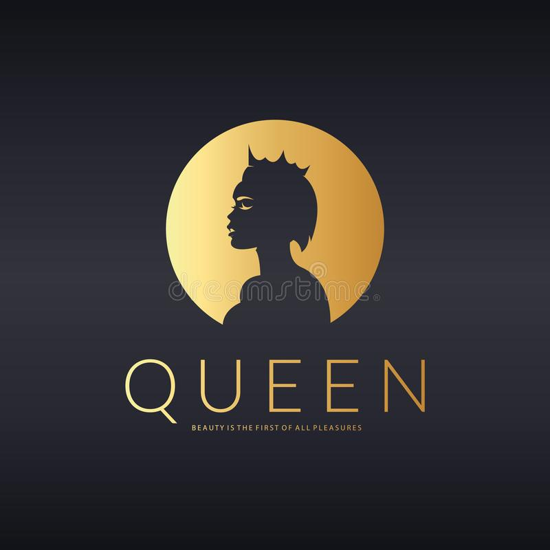 Queen logo. Vector logo design for beauty salon, hair salon, cosmetic. An elegant logo for beauty, fashion and hairstyle related business. Logo template suitable