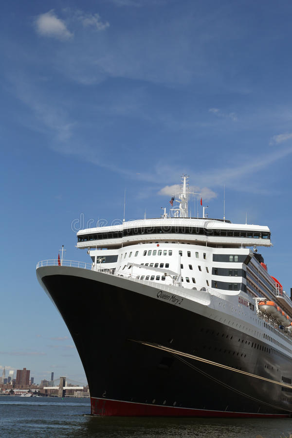Queen Mary 2 Cruise Ship Docked At Brooklyn Cruise Terminal Editorial Image