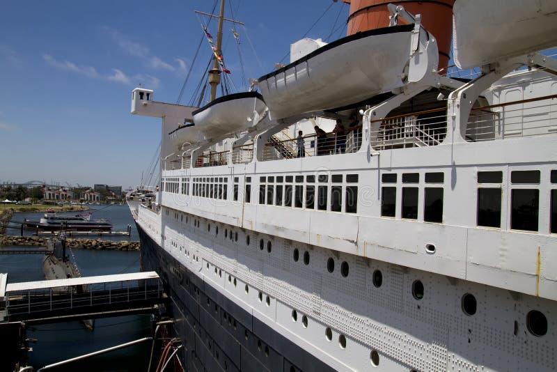 Queen Mary Historic Ocean Liner Stock Image
