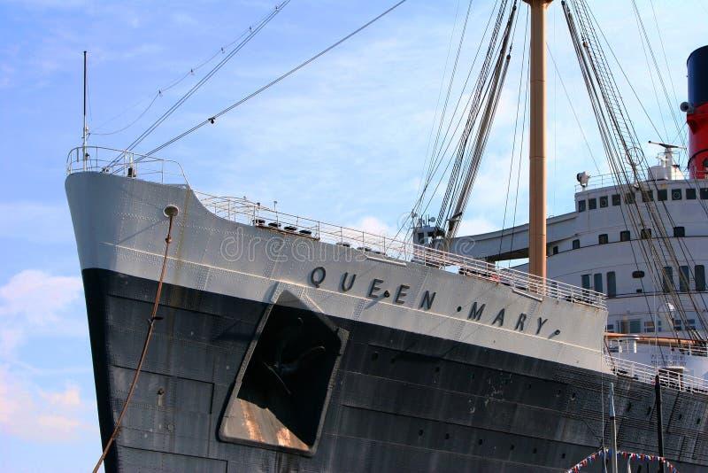 Queen Mary in Long Beach, CA immagine stock libera da diritti