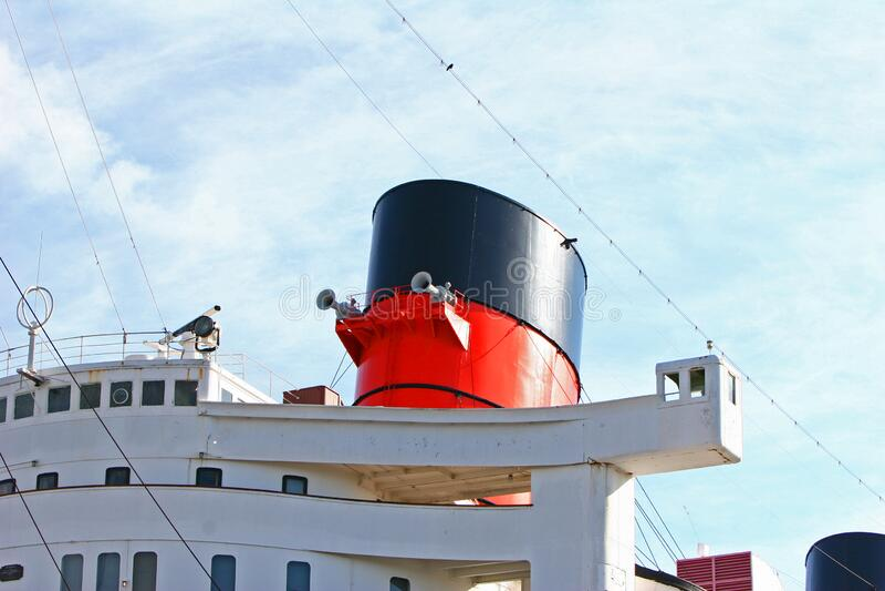 Queen Mary a Long Beach City, California, Stati Uniti fotografia stock