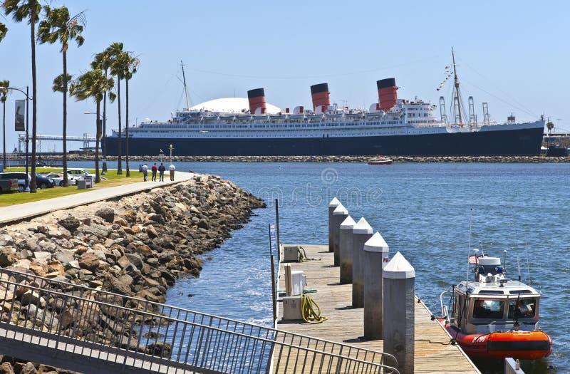 Queen Mary Long Beach Kalifornia. fotografia royalty free