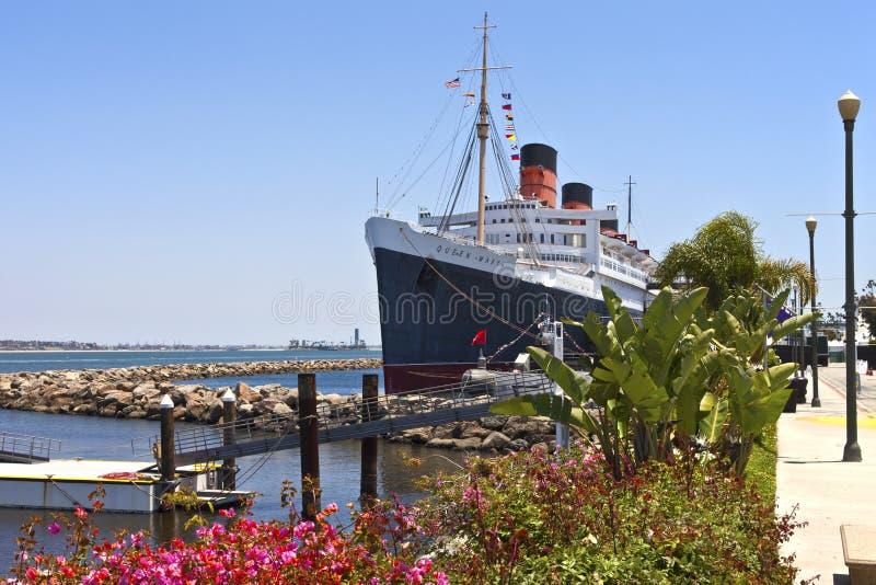 Queen Mary Long Beach Kalifornia. zdjęcia royalty free