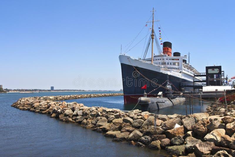 Queen Mary Long Beach Kalifornia. obraz royalty free