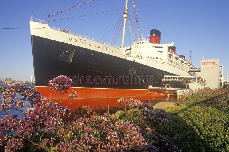 Queen Mary statek wycieczkowy w Long Beach, Kalifornia obraz stock