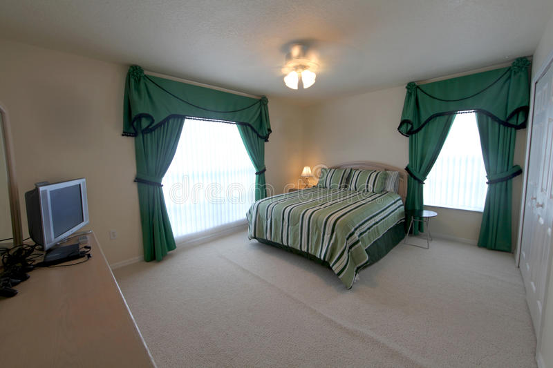 Download Queen Master Bedroom stock photo. Image of curtains, tables - 25296260