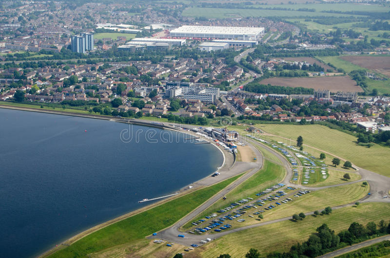 Download Queen Mother Reservoir, Aerial View Stock Photo - Image: 83723858