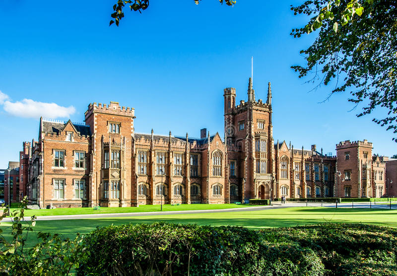 The Queen`s University of Belfast stock photos