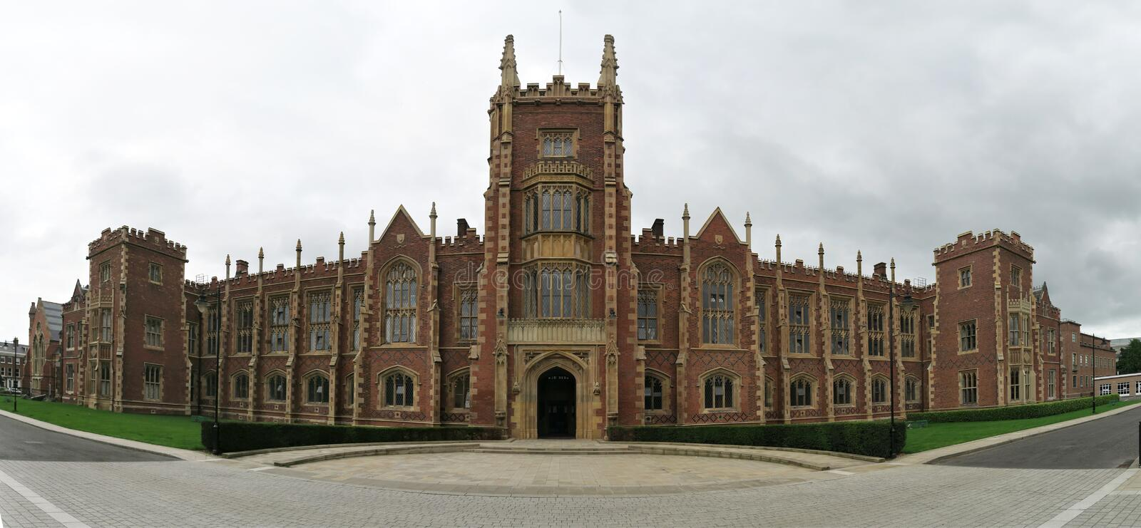 Queen`s University Belfast - the main building of the University of Dublin stock image