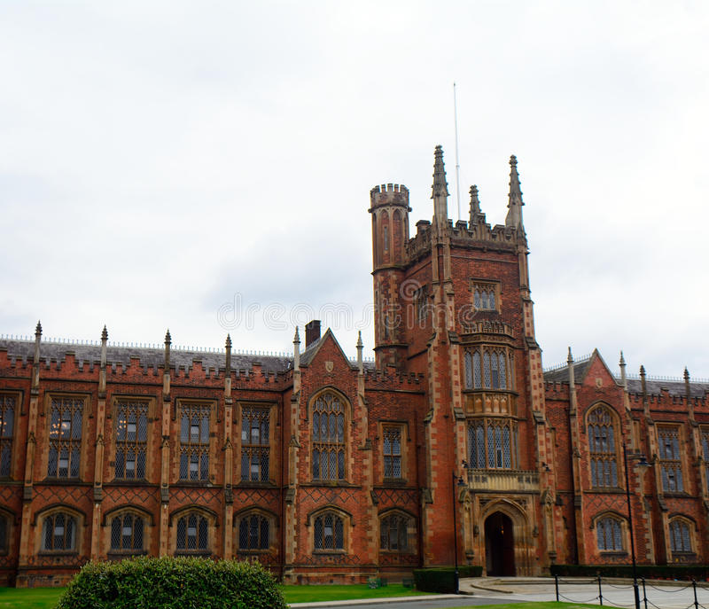 Queen`s University, Belfast, Northern Ireland stock images