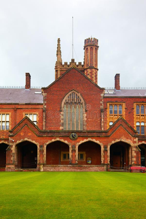 Queen`s University of Belfast stock image