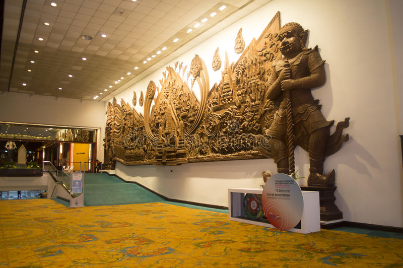 Queen Sirikit National Convention Center in Thailand. Queen Sirikit National Convention Center in Bangkok, Thailand stock photos