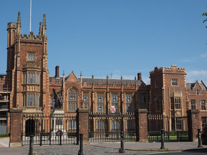 Queen University in Belfast royalty free stock image