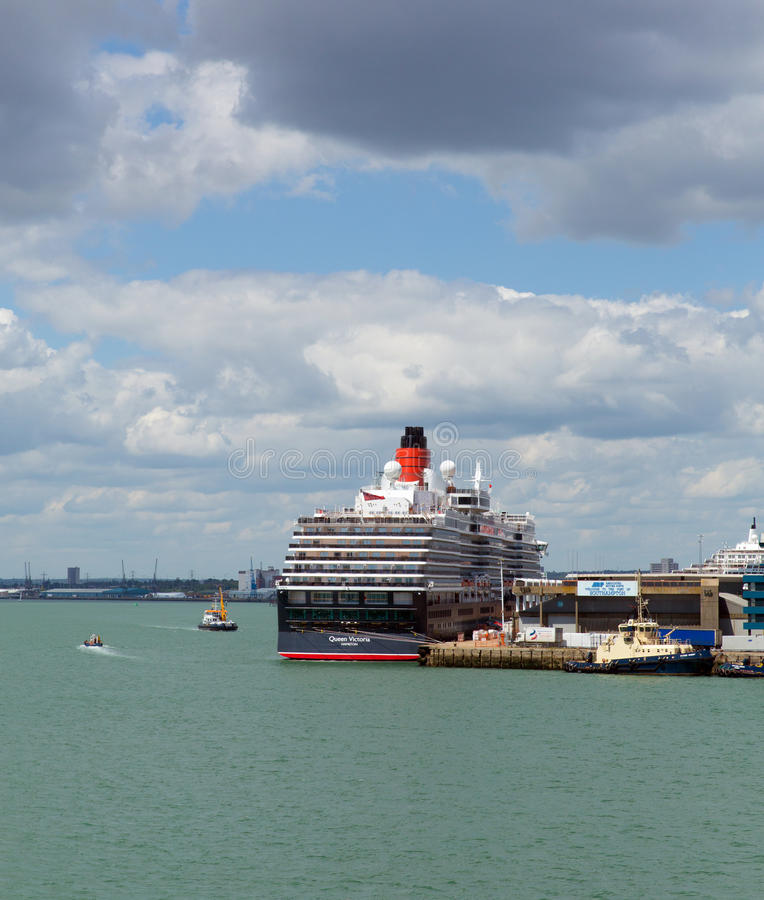 Queen Victoria cruise ship at Southampton Docks England UK stock images