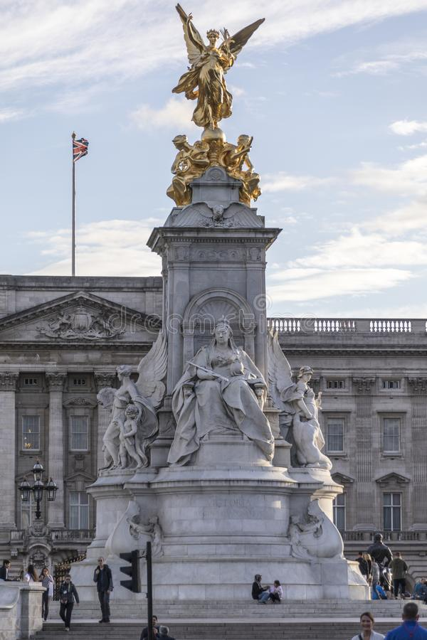 Queen Victoria Memorial in front of Buckingham Palace royalty free stock photo